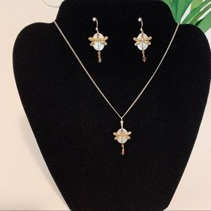 Jewelry - Dragonfly Necklace & matching Earrings